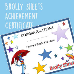 Brolly Kids Certificate