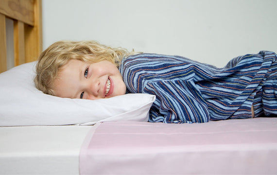 Brolly Sheet Waterproof Mattress Protector with Hugs and Kisses