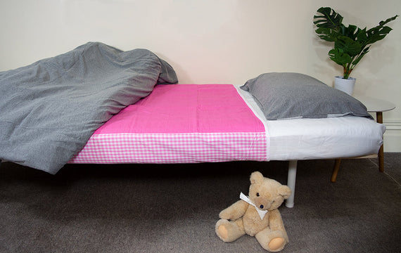 Pink Brolly Sheet with Teddy Bear