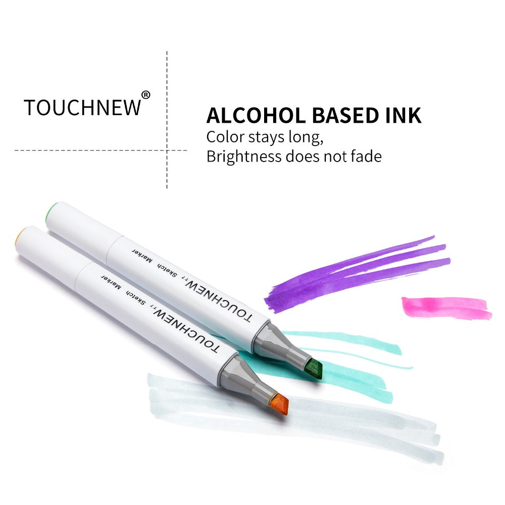 TouchNew T7 24 Color Skin Markers Pen Graphic Art Drawing