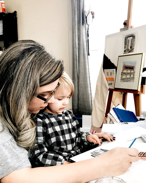 Raising my studio babies // Florence SC Watercolor Artist