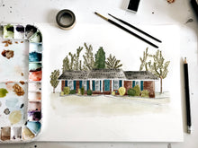 Load image into Gallery viewer, January preorder // Custom home watercolor // hand painted from photo