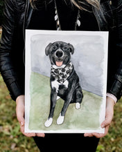 Load image into Gallery viewer, Custom Pet Watercolor // hand painted from photo
