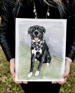 Custom Pet Watercolor // hand painted from photo
