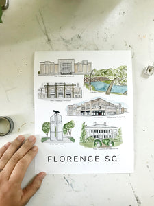 """Our Town"" Florence SC Print"