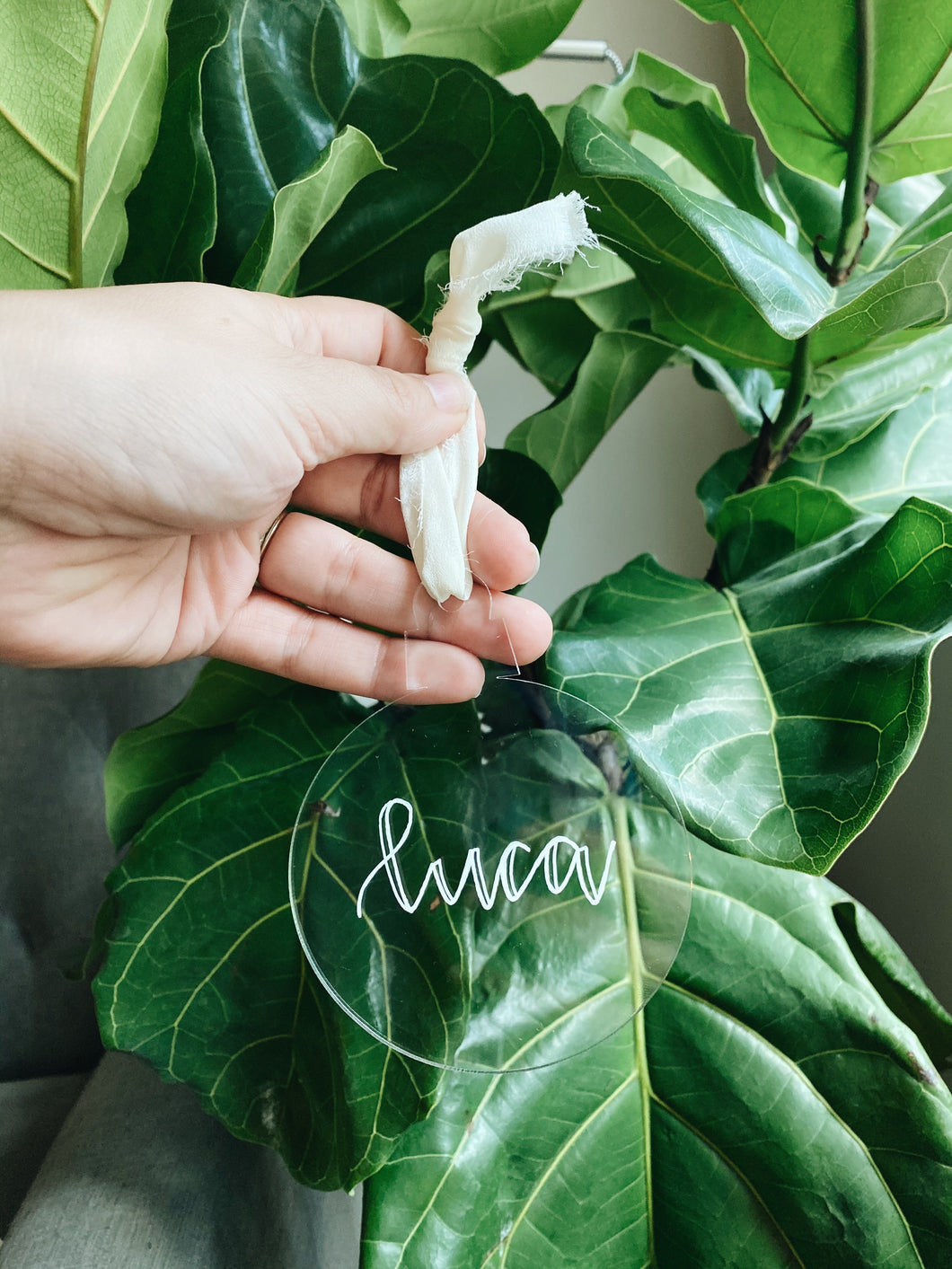 Personalized bulb ornament