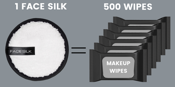 1 face silk equals to 500 makeup wipes