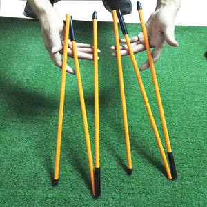 Foldable Golf direction Training Stick - kribigolf