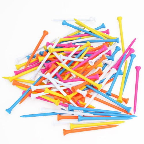 Mixed Color Plastic Golf Tees - kribigolf