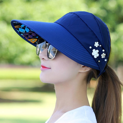 Golf Hat Lady Summer Travel Folding Korean Version - kribigolf
