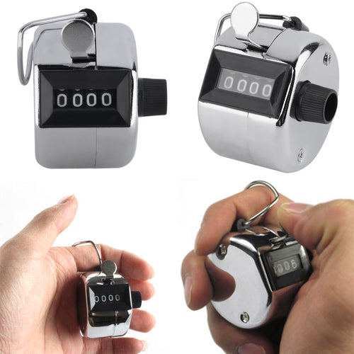 Metal Portable Digital Chrome Hand Tally Clicker - kribigolf