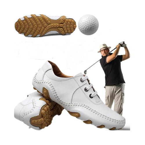 Cowhide Layer Waterproof Shoes - kribigolf