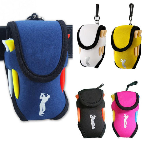 Outdoor Portable Mini Golf Bag 4 Tees and 2 Balls Holder - kribigolf