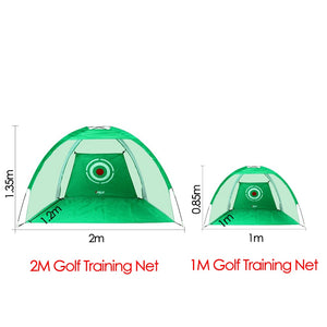 Foldable Indoor Outdoor Golf Hitting Cage Training Aids - kribigolf