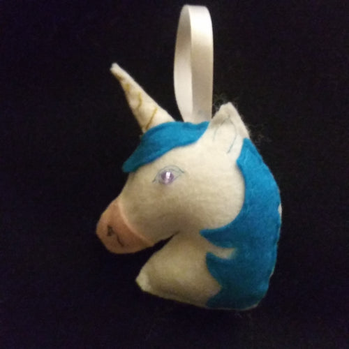 Handmade Unicorn Christmas Ornament