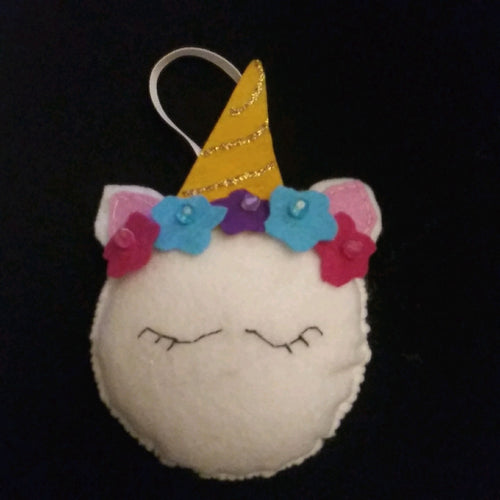 Handmade Unicorn Face Ornament