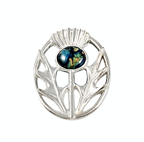 Celtic Thistle Brooch - Pewter
