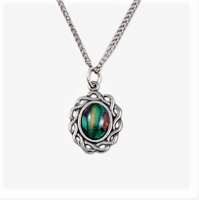HeatherGem Celtic Small Oval - Pewter