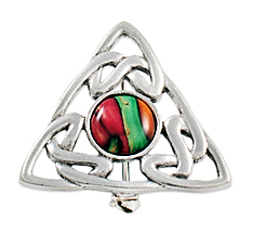 HeatherGems Celtic Triangle - Pewter