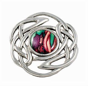Round Brooch with Celtic Interlace - Pewter