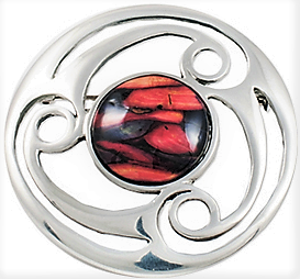 Round Celtic Brooch - Pewter