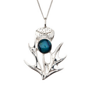 **NEW**  Silver Thistle Pendant