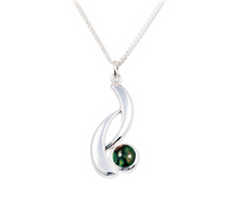 Load image into Gallery viewer, Wishbone Plated Pendant with HeatherGem