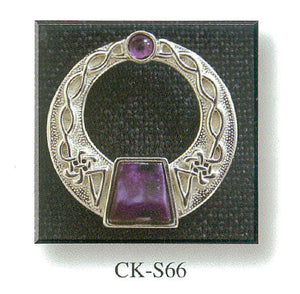 Clasp Brooch with Stone Set