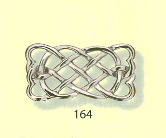 Celtic Interlace Rectangular Brooch