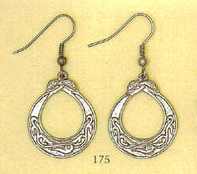 "Celtic ""Lotus Leaf"" Drop Earrings"
