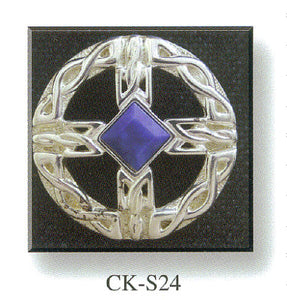 Cross Brooch with Stone Set