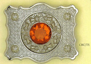 Celtic Belt Buckle with Gem Stone