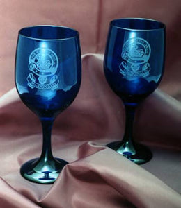Blue Cobalt Wine Goblets - 8 1/2 oz - Set of 2