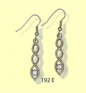 Celtic Interlace Earrings with Stone