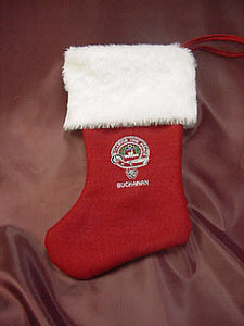 Embroidered Clan Crest Christmas Stocking