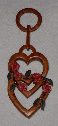 Carved Hearts with Flowers