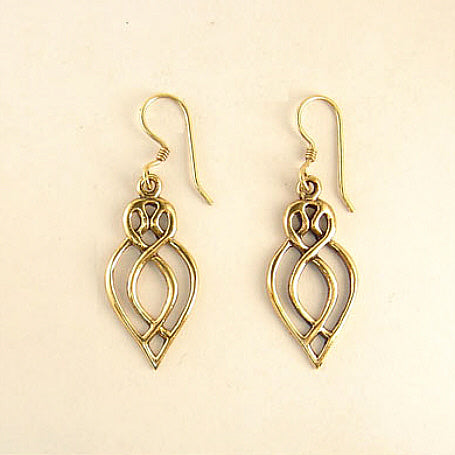 Heart and Crown Earrings