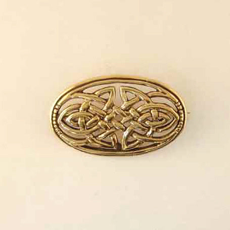 Oval Celtic Brooch