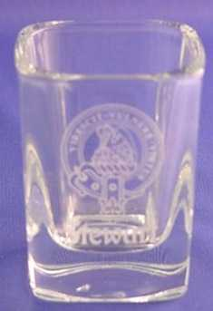 Square Shot Glass with Clan Crest