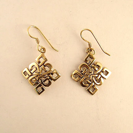 Diamond-Knot Earrings