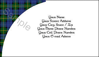Tartan Business Card - Quantity 100