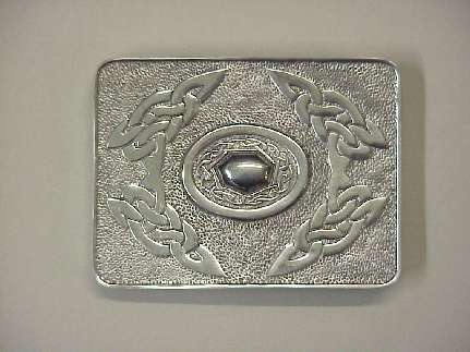 Buckle Celtic Scroll - cast pewter