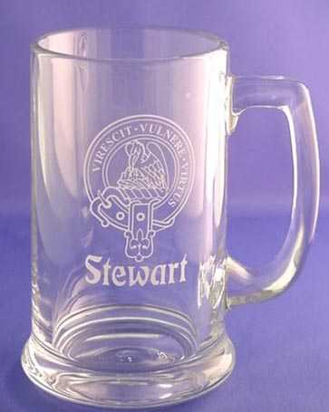 Glass Beer Stein with Clan Crest