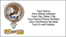 Load image into Gallery viewer, Clan Crest with Scoll Multi Color Business Card - Quantity 100