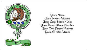 Economy Green Clan Crest with or without Scroll Multi Color Business Card - Quantity 100