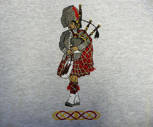 Large Piper Sweatshirt with Celtic Knot - Larger Sizes