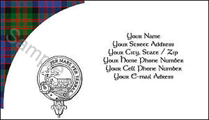 Tartan with Clan Crest  Business Card - Quantity 100