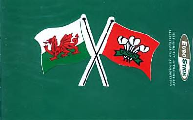 Welsh Sticker - with 2 Crossed Welsh Flags