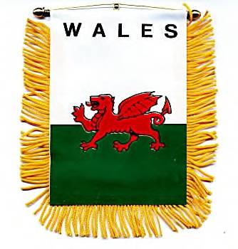 Welsh Dragon Banner - 3 1/2