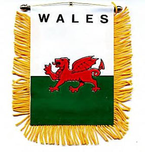 "Welsh Dragon Banner - 3 1/2"" X 4 1/2"""